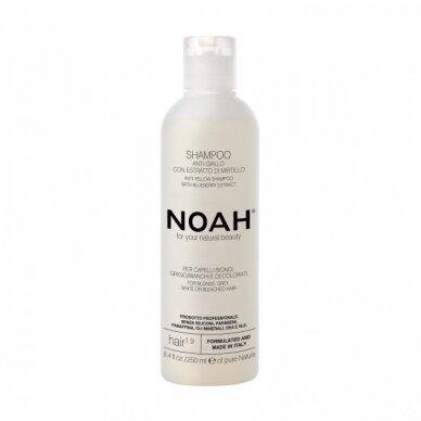 Šampūnas Noah 1.9 neutralizuojantis geltonus atspalvius Anti-Yellow 250 ml