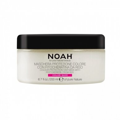Spalvą tausojanti kaukė Noah 2.4. dažytiems plaukams Hair Mask With Rice Phytokeratine