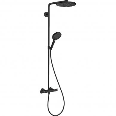 Dušo sistema Hansgrohe Raindance Select S Showerpipe 240 1jet PowderRain su termostatiniu maišytuvu 7
