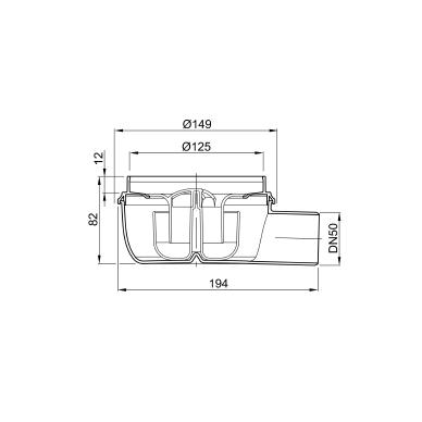 Aco plastikinis trapas DN50 30mm 2