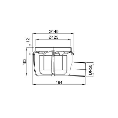 Aco plastikinis trapas DN50 50mm 2