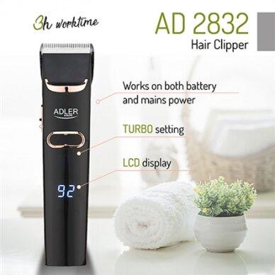 Plaukų kirpimo mašinėlė Adler AD 2832 2