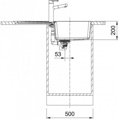 Akmens masės plautuvė Centro CNG 611-86 3
