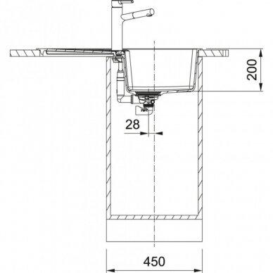 Akmens masės plautuvė Franke Centro CNG 611-62 3