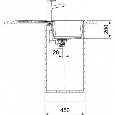 Akmens masės plautuvė Franke Centro CNG 611-78 3