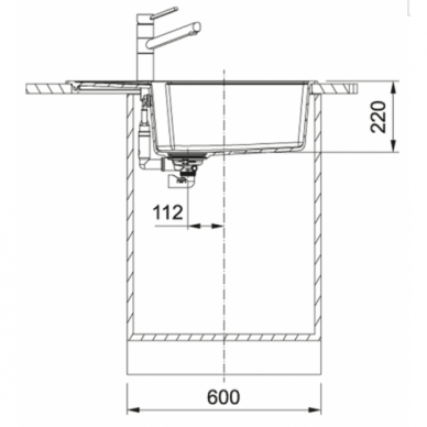 Akmens masės plautuvė Franke UBG 611-78XL 3