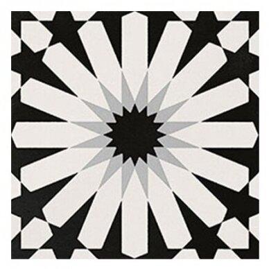 Akmens masės plytelės Elios Etnic A Black & White 2