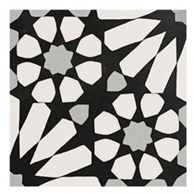 Akmens masės plytelės Elios Etnic B Black & White 2