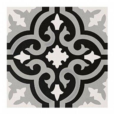 Akmens masės plytelės Elios Original B Black & White 2