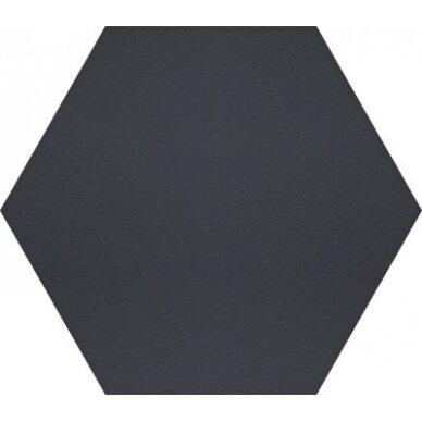 Akmens masės plytelės Manhattan Hex Black 15x17