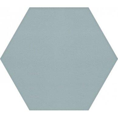 Akmens masės plytelės Manhattan Hex Turquoise 15x17