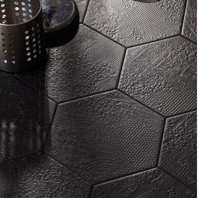 Akmens masės plytelės Milano Black 25x22 cm
