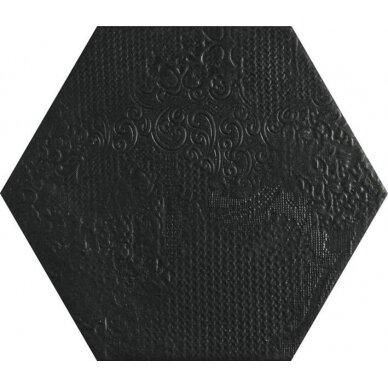 Akmens masės plytelės MILANO BLACK 25x22 cm 2
