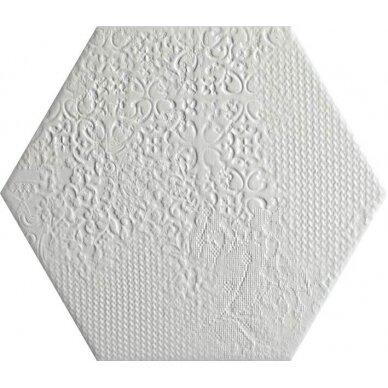 Akmens masės plytelės MILANO WHITE 25x22 cm 2