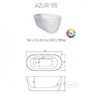 Akmens masės vonia Balteco Azur 130, 140, 155 cm 9