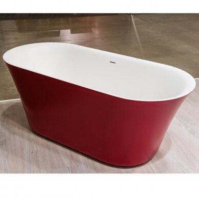 Akmens masės vonia Balteco Fiore 157, 180 cm 2