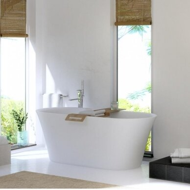 Akmens masės vonia Balteco Fiore 157, 180 cm