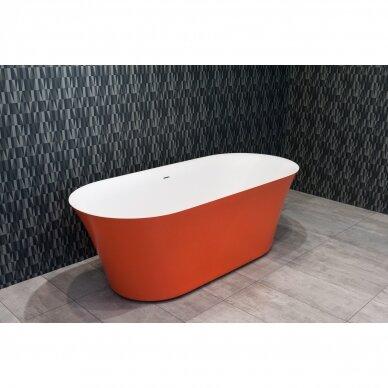Akmens masės vonia Balteco Fiore 157, 180 cm 3