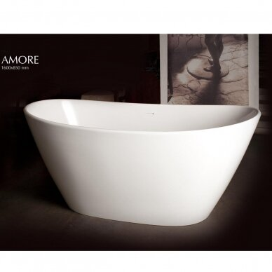 Akmens masės vonia PAA Amore 160 cm 2