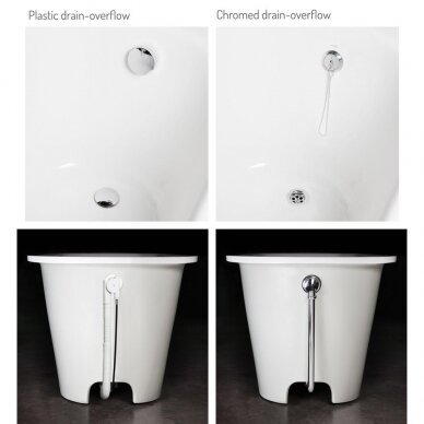 Akmens masės vonia PAA Vario L 160-170x75 cm 9