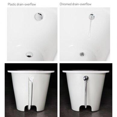 Akmens masės vonia PAA Vario Long 160-170x75 cm 5