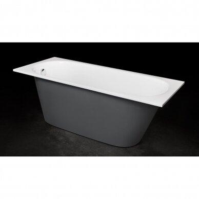 Akmens masės vonia PAA Vario Long 160-170x75 cm 3
