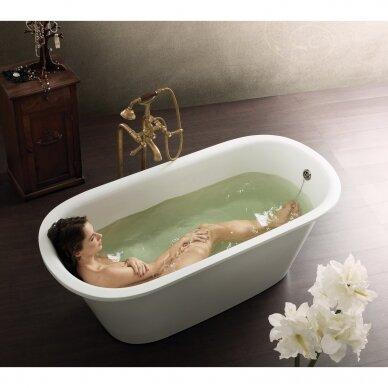 Akmens masės vonia PAA Vario L 160-170x75 cm 2