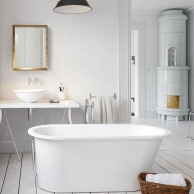 Akmens masės vonia PAA Vario Round 166 cm