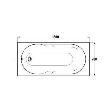 Akrilinė vonia Jika Lyra 150, 160, 170 cm 6