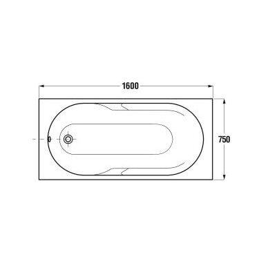 Akrilinė vonia Jika Lyra 150, 160, 170 cm 7