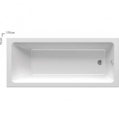 Akrilinė vonia Ravak 10° 170 cm 2