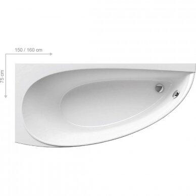Akrilinė vonia Ravak Avocado 150, 160 cm 2