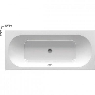 Akrilinė vonia Ravak City arba City Slim 180 cm 5