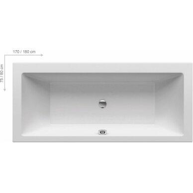 Akrilinė vonia Formy 01 Ravak 170, 180 cm 7