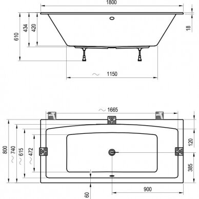 Akrilinė vonia Ravak Formy 02 arba Formy 02 slim - 180 cm 10