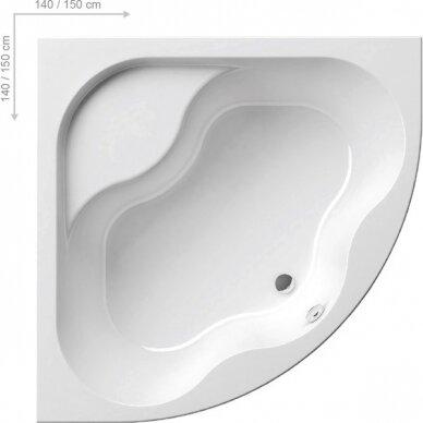 Akrilinė vonia Ravak Gentiana 140, 150 cm 2