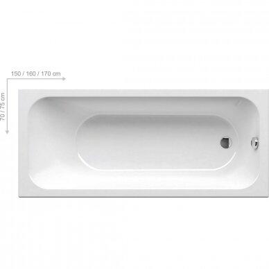 Akrilo vonia Ravak Chrome arba Chrome slim 150, 160, 170 cm 2