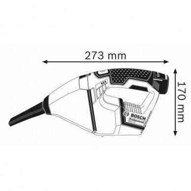 Akumuliatorinis dulkių siurblys Bosch GAS 12V, 2x3.0Ah 3