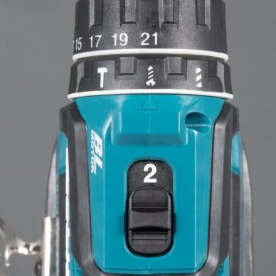 Akumuliatorinis gręžtuvas Makita DDF485RTJ, 18 V, 2x 5,0Ah + papildomas akum. 4.0Ah 4