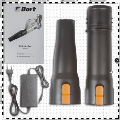 Akumuliatorinis lapų pūstuvas BORT BSS-18LI-PRO 7