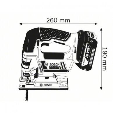Akumuliatorinis siaurapjūklis Bosch GST 18 V-LI B solo Professional 2