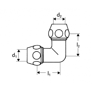 Alkūnė su veržlėmis Schell DN10 x DN10 2