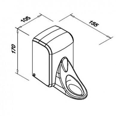 Alkūninis skysto muilo dozatorius FANECO POP 3