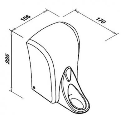 Alkūninis skysto muilo dozatorius FANECO POP 4