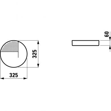 Apvalus keraminis padėklas Laufen Val 32,5 cm 6