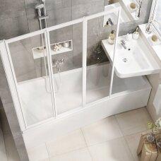Asimetrinė akrilinė vonia Ravak BeHappy II 150, 160, 170 cm
