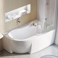 Asimetrinė akrilinė vonia Ravak Rosa 95 - 150, 160 cm