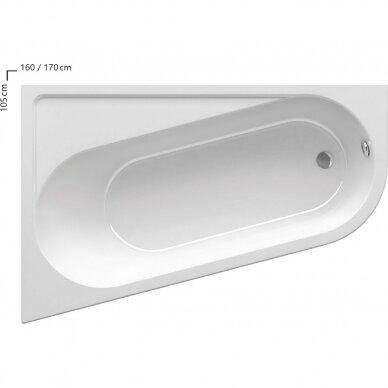 Asimetrinė vonia Ravak Chrome 160, 170 cm 3