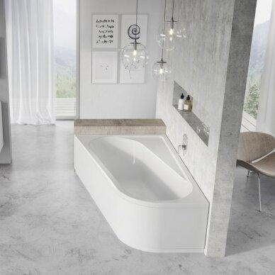 Asimetrinė vonia Ravak Chrome 160, 170 cm