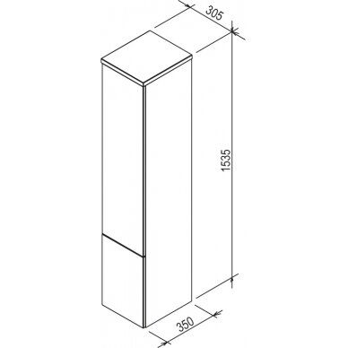 Aukšta spintelė Ravak SB Rosa II 35x30x153 4
